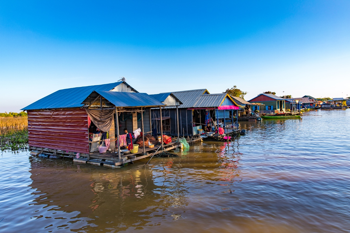 Day 12: Siem Reap – Floating Village in the afternoon (B/-/-)